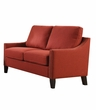 Zapata Loveseat in Red Linen - Acme Furniture 52491