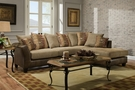Zeta Sectional Rip Suede - Chelsea Home Furniture 424174-05-SEC