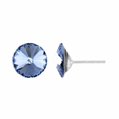 11mm Blue CZ December Birthstone Stud Earrings