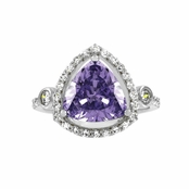 Abilene's 2.5 ct Trillion Cut Light Purple CZ Engagement Ring