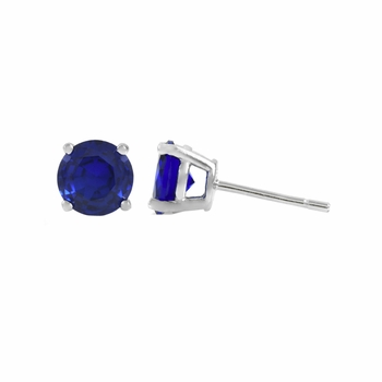 Aciano's Simulated Sapphire Stud Earrings
