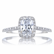 Adela's Cushion Cut CZ Engagement Ring