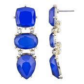 Adelina's Blue CZ Fancy Drop Earrings