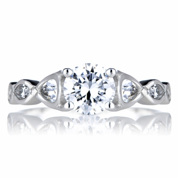 Agne's CZ Antique Style Wedding Ring