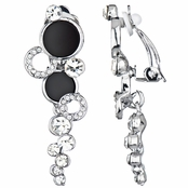 Ainsley's Silvertone Circle Dangle Clip On Earrings