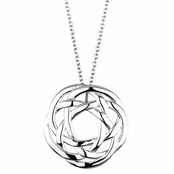Aislinn's Silvertone Celtic Knot Charm Necklace