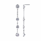 Anastasia's Classic CZ Drop Earrings