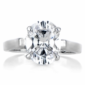 Anastasia's Oval Cut Solitaire Engagement Ring