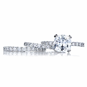 Angita's Cushion Cut CZ Wedding Ring Trio Set