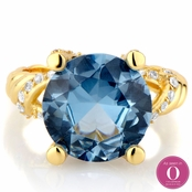 Ani's Cocktail Ring - Blue CZ