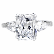 Anise's Cushion Cut CZ Engagement Ring