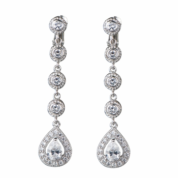 Ann's Vintage CZ Dangle Screwback Earrings