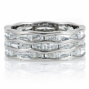 Arcelia's Baguette Cut CZ Eternity Ring