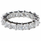 Aren's Princess Cut CZ Stackable Eternity Ring