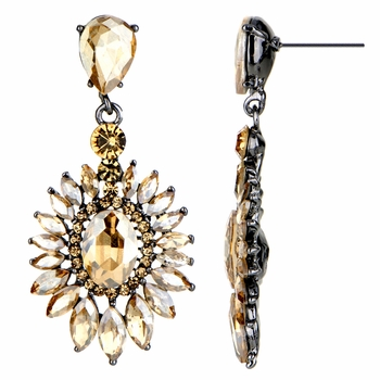 Aretha's Fancy Champagne CZ Drop Earrings