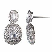 Julina's CZ Vintage Style Drop Earrings