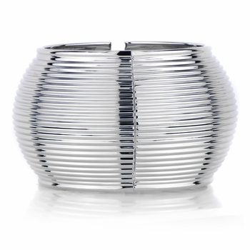 Ashleigh's Wide Silverstone Ribbed Cuff Bracelet