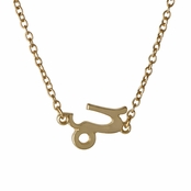 Athena's Goldtone Zodiac Charm Necklace - Capricorn