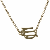 Athena's Goldtone Zodiac Charm Necklace - Virgo