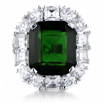 Aubree's Green CZ Estate Ring