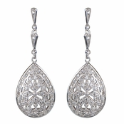 Ava's Antique Pear Shape CZ Dangle Earrings