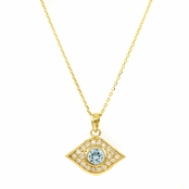 Ayasha's Goldtone Evil Eye Necklace