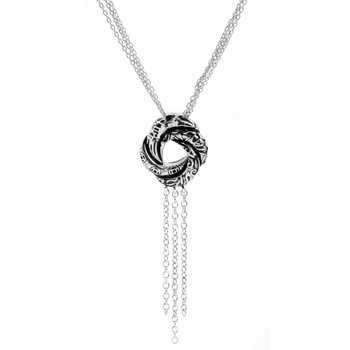 Petite Algerian Love Knot Necklace (With Back)