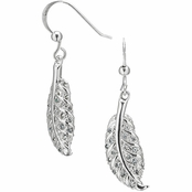 Break-Up Silvertone Leaf Earrings