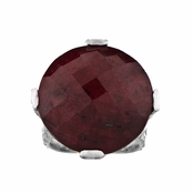 Briar's Red CZ Cocktail Ring - Silvertone
