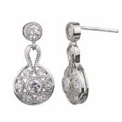 Bridal Jewelry: Vera's Petite Art Deco Drop Earrings