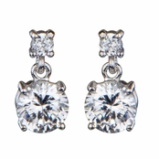 Bridesmaid Earrings: 2.7 TCW Katie's CZ Dangle Earring