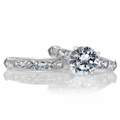 Brooke's CZ Wedding Ring Set