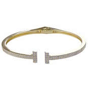 Caitlyn's Gold Plated Cubic Zirconia Bangle Bracelet