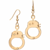 Petite Goldtone Dangle Handcuff Earrings