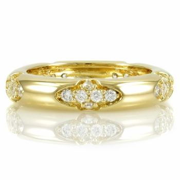Carden's Goldtone CZ Stackable Ring