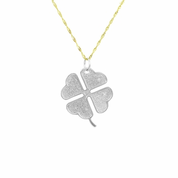 Carrie's Heart Clover Necklace - Comparable To Sex and the City 2