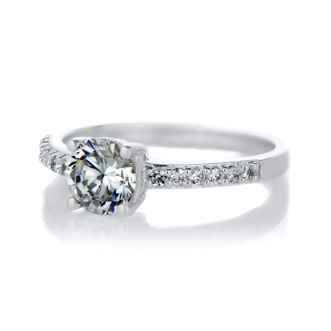 cassara 39 s 1 ct round cut cz engagement ring