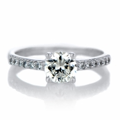 Cassara's 1 CT Round Cut CZ Engagement Ring