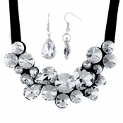 Cecile's Multi Cut Rhinestone Bib Necklace