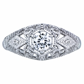 Gemma's 0.5 ct CZ and Silvertone Vintage Style Wedding Ring