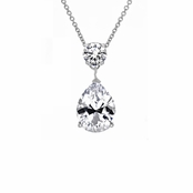 O's 3.75 ct Cubic Zirconia Pear Drop Necklace