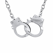 Criss' Large Silvertone Handcuff Necklace