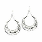 Rhoda's Silvertone Jumbo Doorknocker Hoop Earrings
