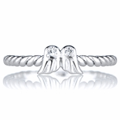 Celina's Petite Angel Wing Charm Stackable Ring
