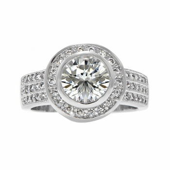Chara's 3.5 Carat Bezel Set CZ Wedding Ring