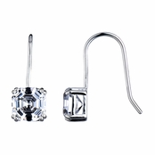 Cheri's 2 TCW Asscher Style CZ Dangle Earrings
