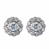 Chrisanta's CZ Vintage Stud Earrings