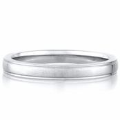 Christian's Plain Stainless Steel Wedding Ring Band