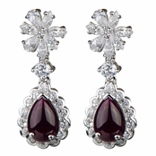 Claudia's Red CZ Fancy Drop Earrings