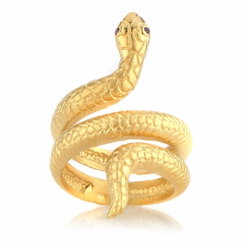 Cleo's Goldtone Snake Ring